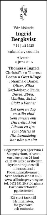 Ingrid Bergkvist