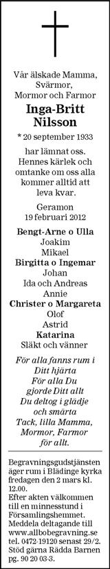 Inga-Britt Nilsson