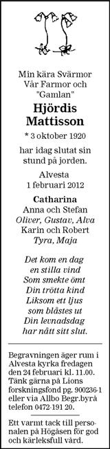 Hjördis Mattisson