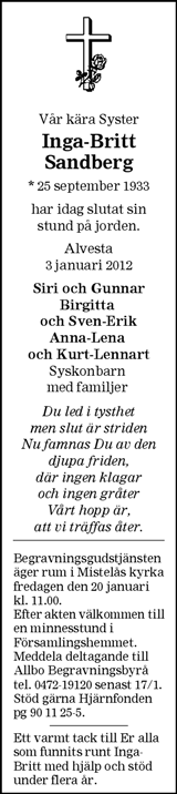 Inga-Britt Sandberg