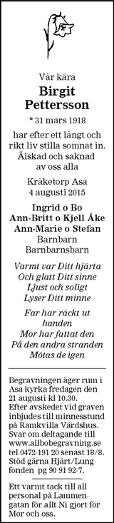 Birgit Pettersson