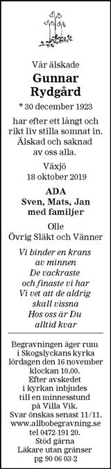 Gunnar Rydgård