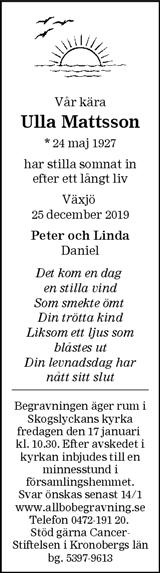 Ulla Mattsson