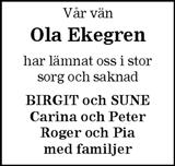 Ola Ekegren
