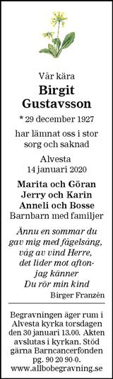 Birgit Gustavsson