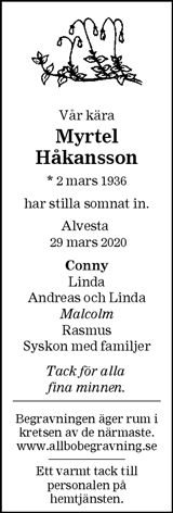 Myrtel Håkansson