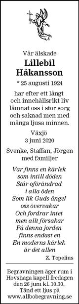Lillebil Håkansson