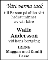 Walle Andersson