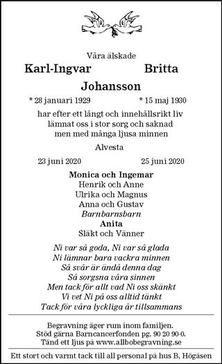 Karl-Ingvar och Britta Johansson
