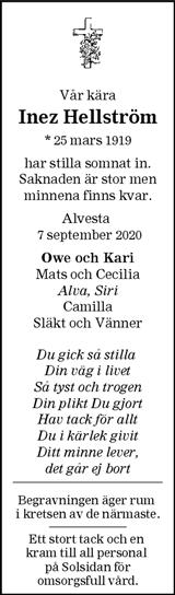 Inez Hellström